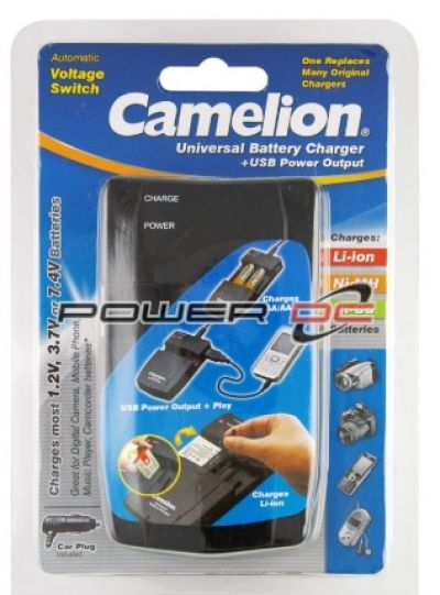 CAMELION Universal Battery Charger with USB Power Output