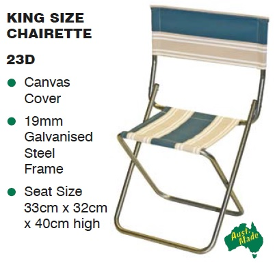 SUPEX King Size Canvas Chairette