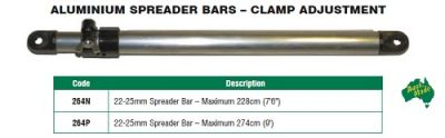 Aluminium 228cm Spreader Bar with clamp adjustment