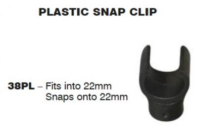 SUPEX Plastic Clip Snaps fits onto 22mm and snaps onto 22mm tube