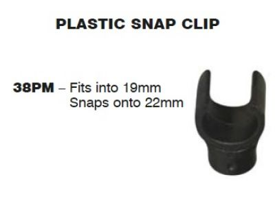 SUPEX Plastic Clip fits into 19mm and snaps onto 22mm tube