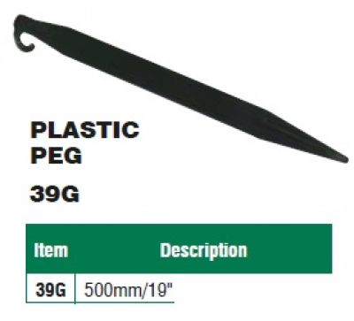 500mm Plastic Tent Peg