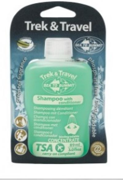 TREK and TRAVEL Shampoo with conditioner