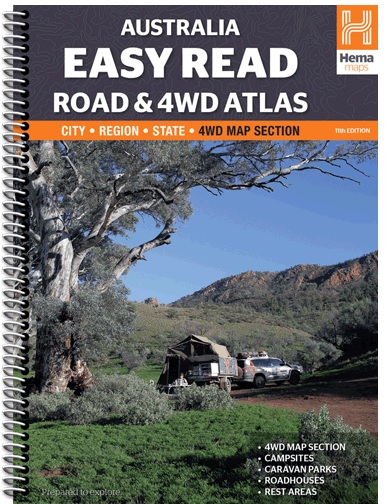 HEMA Australia Easy Read Road and 4WD Atlas