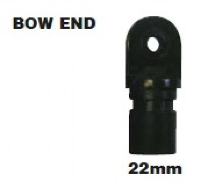 Bow End for tent pole 22mm plastic tube