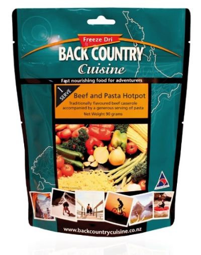 BACK COUNTRY Beef and Pasta Hotpot Freeze Dried Food Single Serve