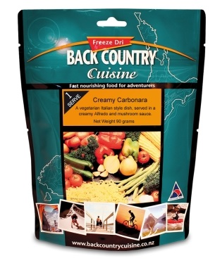 BACKCOUNTRY Creamy Carbonara Freeze Dried Food Single Serve