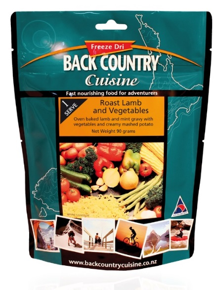 BACK COUNTRY Road Lamb and Veges Freeze Dried Food Single Serve