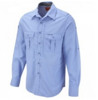 CRAGHOPPERS Nosilfe Mens Maya Blue Long Sleeve Shirt