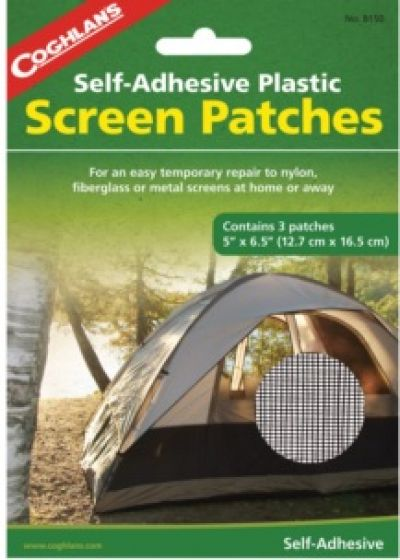 COGHLANS Self Adhesive Plastic Screen Patches