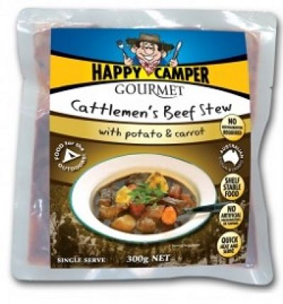 HAPPY CAMPER GOURMET Cattlemen's Beef Stew with Potatoes & Carrots (GF) 300g