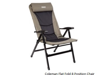 COLEMAN Fold Flat 8 Position Chair