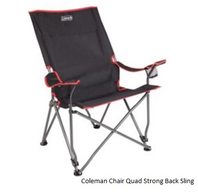 COLEMAN Quad Strong Back Sling Chair