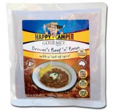 HAPPY CAMPER GOURMET Drover's Beef and Bean with a Hint of Spice 300g