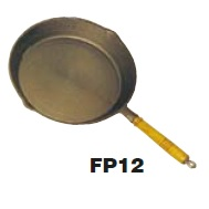 SUPEX 300mm round caste iron frying pan