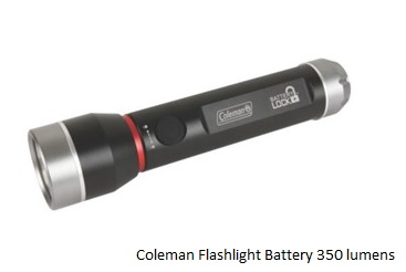 COLEMAN Flashlight with Battery Lock 350 Lumens