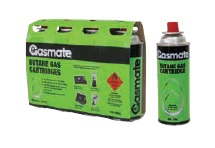 GASMATE Butane Long Valve Cartridges 4pk