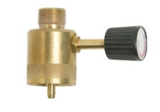 GASMATE Adaptor to convert a 1 inch 20 UNEF to a BSP LH outlet