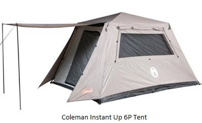 COLEMAN Instant Up 6 Person Full Fly Tent Silver Series