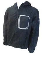 TEAM AUSTRALIA Stolite Light Weight Black Rain Jacket