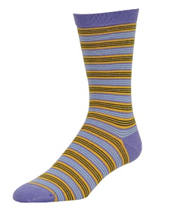 Wilderness Wear Ladies Bamboo Socks Thin Stipes Lilac