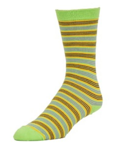 Wilderness Wear Ladies Bamboo Socks Thin Stipes Lime