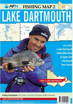 AFN Lake Dartmouth Fishing Map No 2