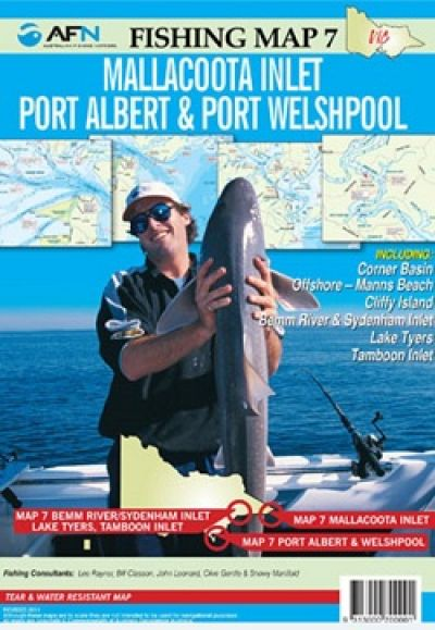 AFM Mallacoota Inlet Port Albert and Port Welshpool Fishing Map No 7