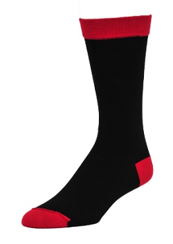 Wilderness Wear Mens Bamboo Socks Heel Toe Design Red