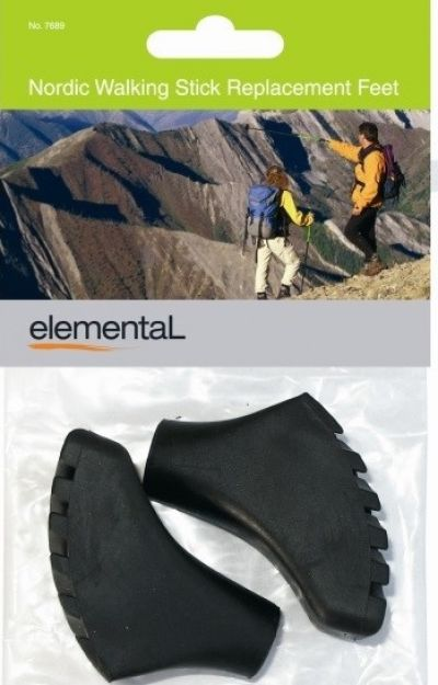 ELEMENTAL Nordic Trekking Pole Replacement Feet 2 pack
