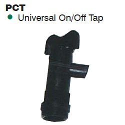 Black Plastic Water Container Tap