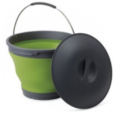 Pop Up Bucket with Lid 9.5 litres