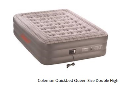 COLEMAN Quickbed Queen Size Double High Airbed with 240V pump