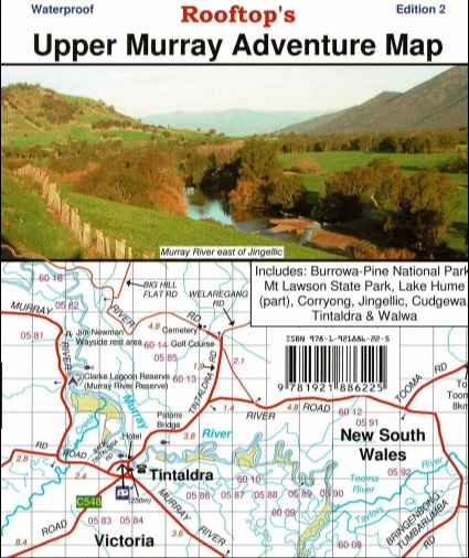 ROOFTOPS MAPS New Upper Murray Adventure Map Edition 2