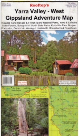 ROOFTOPS MAPS Yarra Valley-West Gippsland Adventure Map