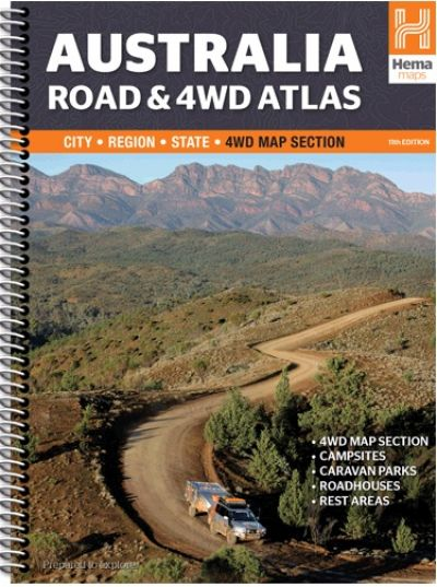 HEMA Australia Road and 4WD Atlas