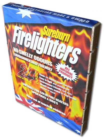 SUREBURN Environmentally Friendly Firelighters