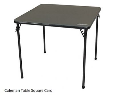 COLEMAN Square Card Table 80 x80cm