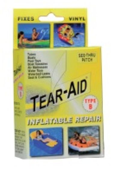 Tear Aid Type B Vinyl Instant Repair Kit Yellow Packaging