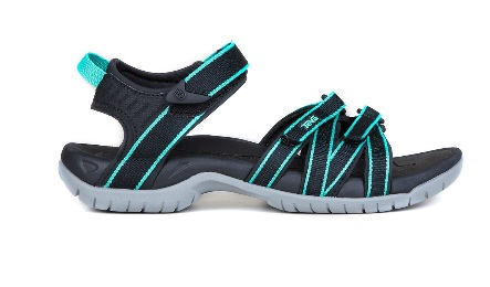 TEVA Ladies Tirra Sandal in Black/Aqua