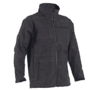 3PEAKS Mens Alpine Soft Shell Jacket -Black