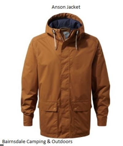 CRAGHOPPERS Mens Anson Jacket in Tobacco