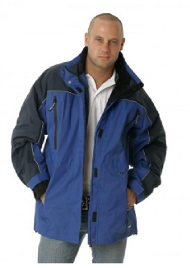 HUSKI Apex Jacket in cobalt colour