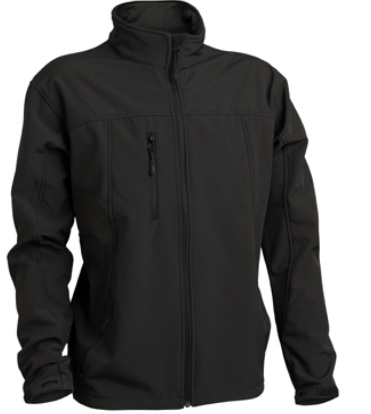 3PEAKS Mens Aspire Softshell Jacket in Black