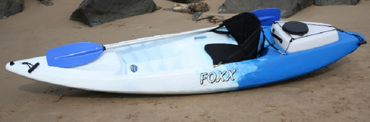AUSTRALIS Foxx Sit on Top with Backrest and Paddle Blue/White