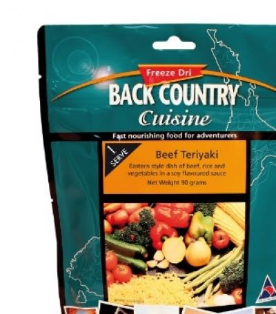 BACK COUNTRY Beef Teriyaki Freeze Dry Food Two Serve