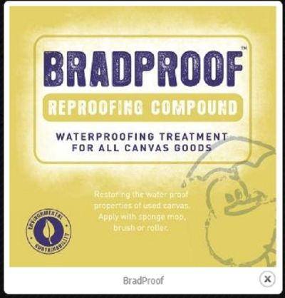 BRADPROOF Waterproofing Treatment for All Canvas Goods