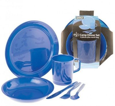 Camp Dinner 6 pieces Set with mesh bag