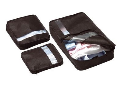 GO TRAVEL 3 piece Case Tidy and packing organiser set