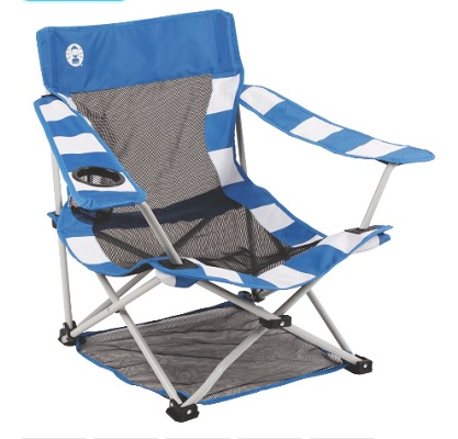 COLEMAN Beach Chair Quad in Blue & White